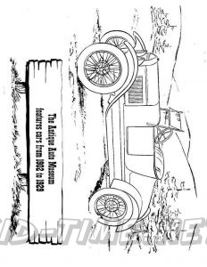 3 Valley Gap Hotel & Ghost Town Coloring Sheet - Antique Cars Museum