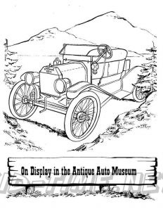 3 Valley Gap Hotel & Ghost Town Coloring Sheet - Auto Museum