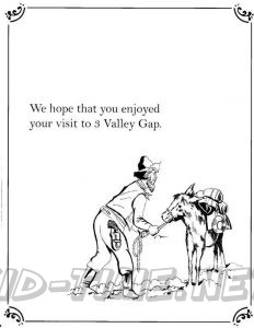3 Valley Gap Hotel & Ghost Town Coloring Sheet - Mule / Donkey