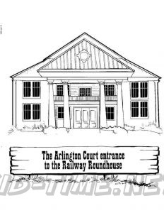 3 Valley Gap Hotel & Ghost Town Coloring Sheet - Court House and Railway Roundhouse