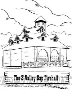 3 Valley Gap Hotel & Ghost Town Coloring Sheet - Firehall