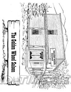 3 Valley Gap Hotel & Ghost Town Coloring Sheet - The Golden Wheel Saloon