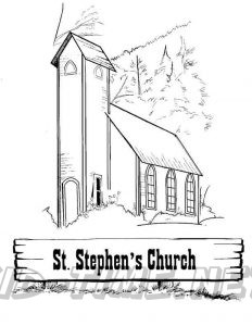 3 Valley Gap Hotel & Ghost Town Coloring Sheet - St. Stephen's Church
