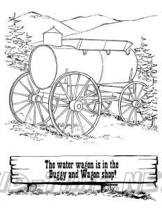 3 Valley Gap Hotel & Ghost Town Coloring Sheet - Water Wagon
