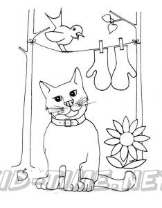 The Three Little Kittens | Cat coloring page, Coloring books ... | 300x234