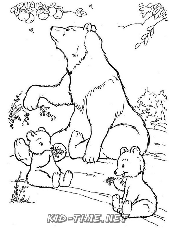 Grizzly Bear Coloring Pages - GetColoringPages.com | 792x612